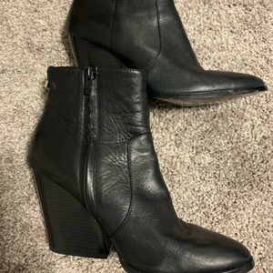 Calvin Klein Leather wedge Boots